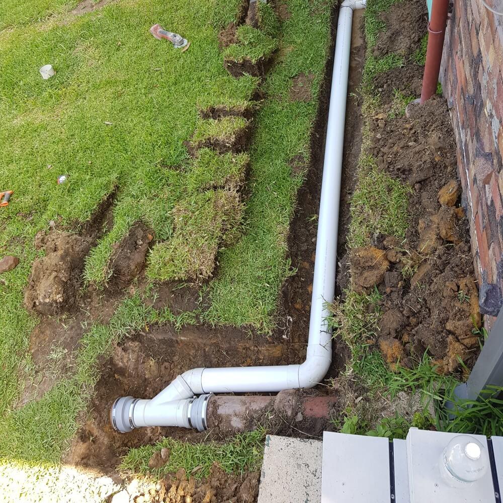 blocked drain outside