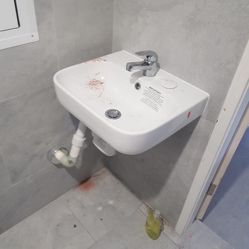 blocked sink