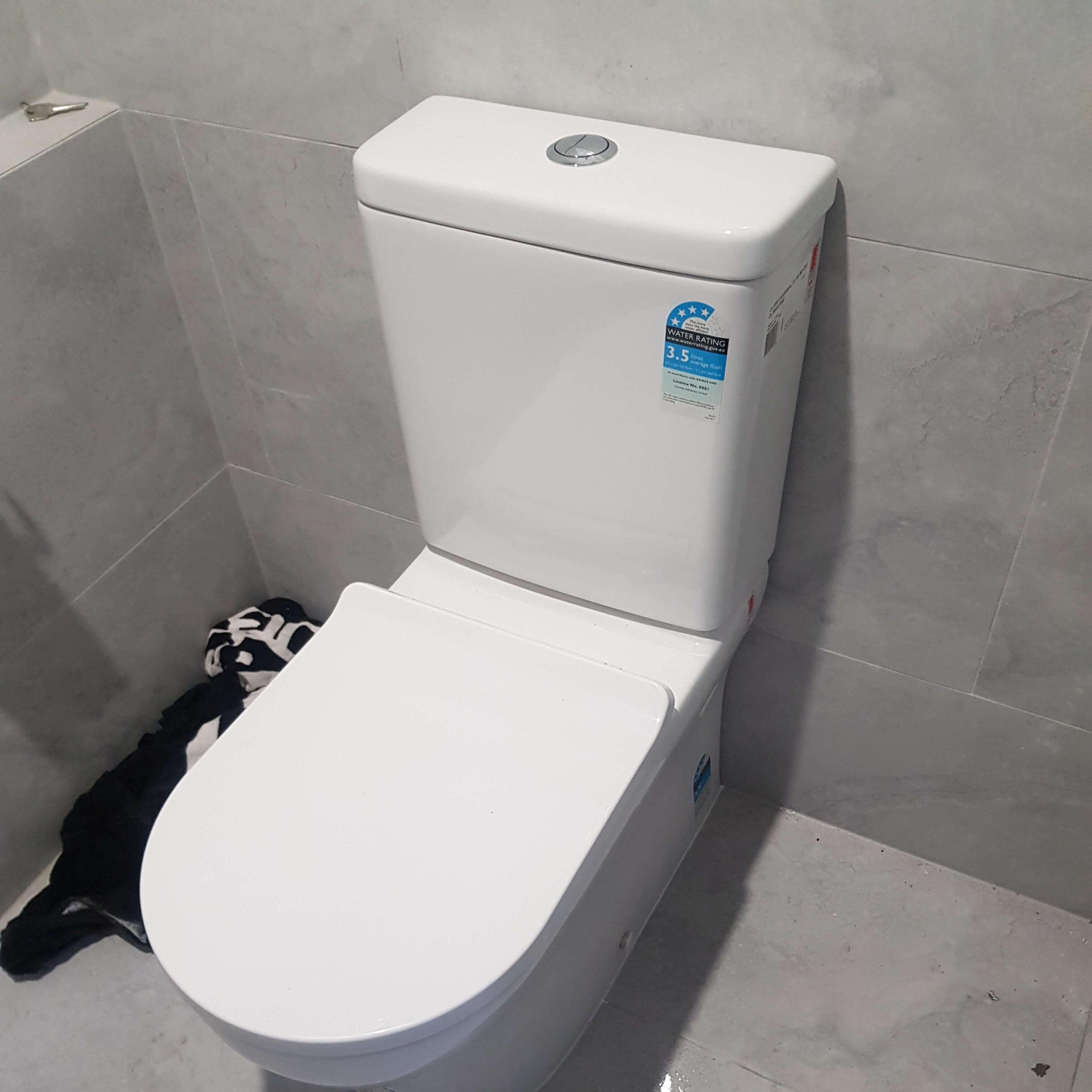 Blocked drain toilet