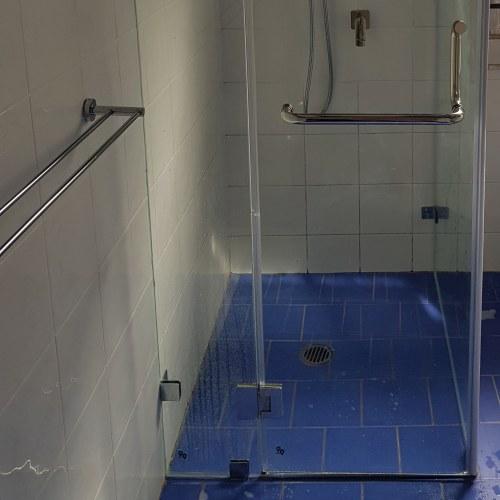 Blocked shower drain