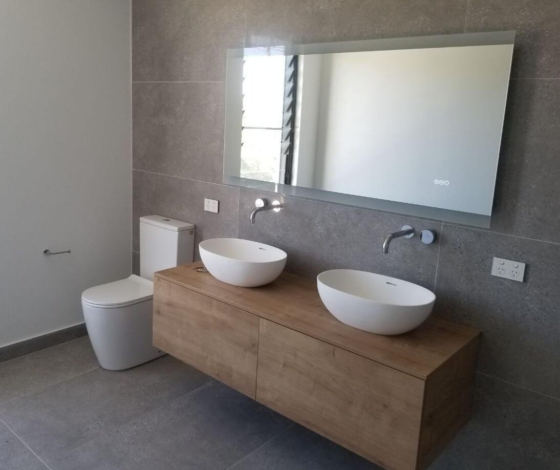 vanity installation
